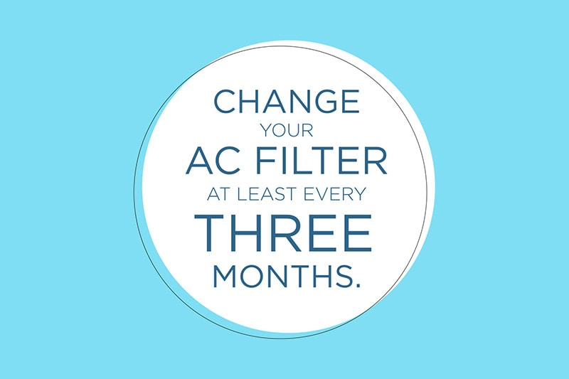 change your AC filter often